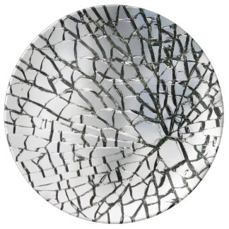 Shattered glass texture plate