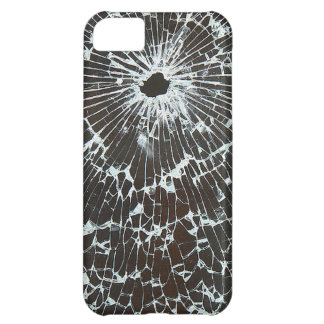 Shattered Glass With Bullet Hole iPhone 5C Covers