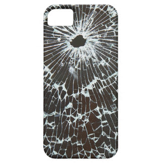 Shattered Glass With Bullet Hole iPhone SE/5/5s Case