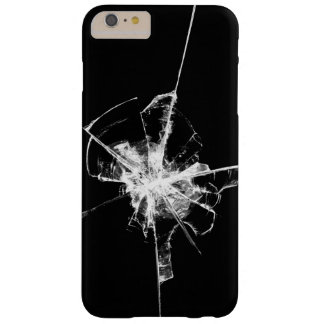 Shattered Glass YOU CHOOSE BACKGROUND COLOR Barely There iPhone 6 Plus Case