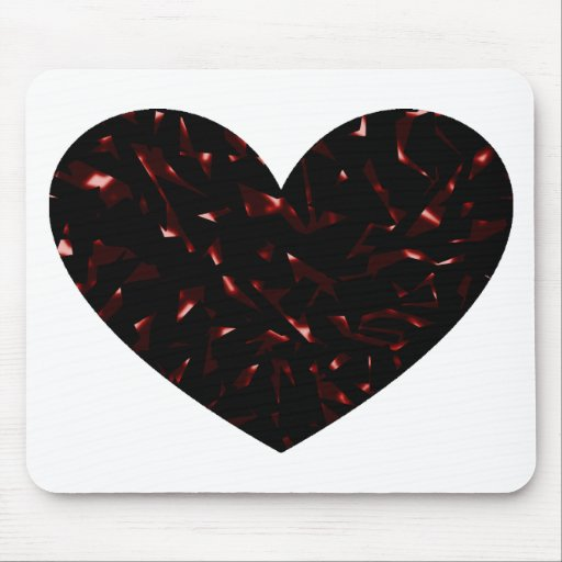 Shattered Heart Mouse Pad