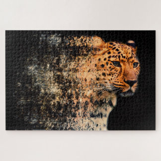 Shattered Leopard Jigsaw Puzzle