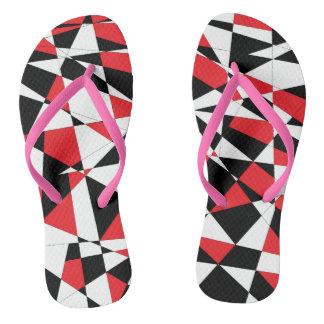 Shattered Life Tricolor Flip Flops