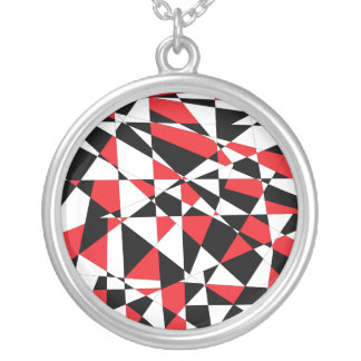 Shattered Life Tricolor Round Pendant Necklace