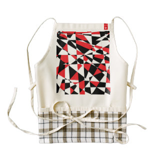 Shattered Life Tricolor Zazzle HEART Apron