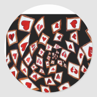 Shattered Luv Classic Round Sticker