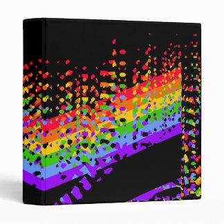 Shattered Rainbow Design 3 Ring Binder