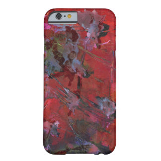 Shattered red and black grunge barely there iPhone 6 case