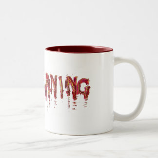Shattered Red tiff Two-Tone Coffee Mug