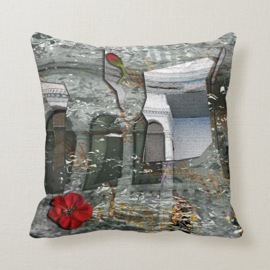 Shattered, Scattered & Wrapped Throw Pillow