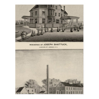 Shattuck residence, McLane Mills Postcards