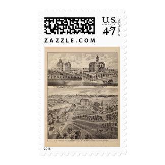 Shattuck School, Faribault Willis Hall, Minnesota Postage Stamp