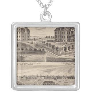 Shattuck School, Faribault Willis Hall, Minnesota Silver Plated Necklace