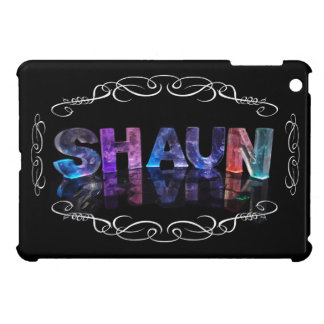 Shaun  - The Name Shaun in 3D Lights (Photograph) Case For The iPad Mini
