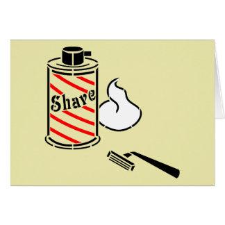 Shave Cream and Razor Card