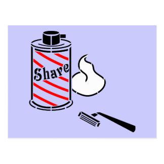 Shave Cream and Razor Postcard