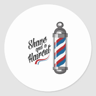 Shave & Haircut Classic Round Sticker