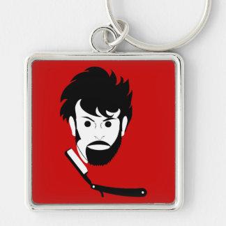 Shave - Man Shaving Beard - Shaved Beard Key Chain