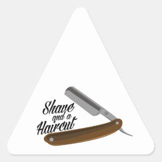Shave Razor Triangle Sticker