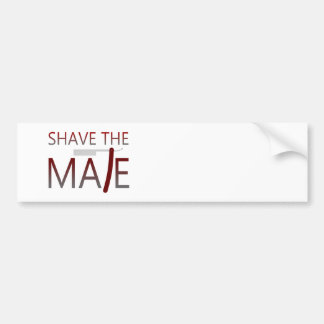 Shave The Mate Bumper Sticker