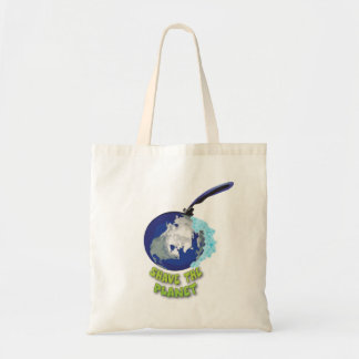 shave the planet budget tote bag