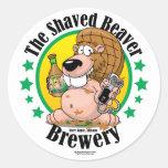 Shaved Beaver Brewery Classic Round Sticker