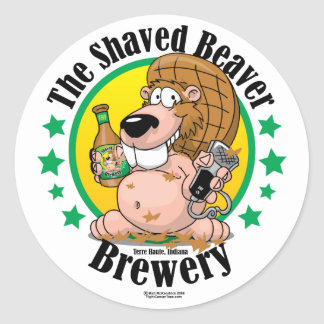 Shaved Beaver Brewery Stickers