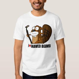 beaver shaved shirt t