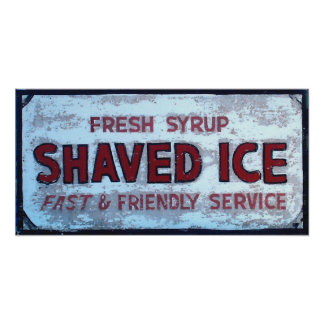 Shaved Ice Vintage sign