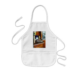 Shaving Brush and Box of Combs Kids' Apron