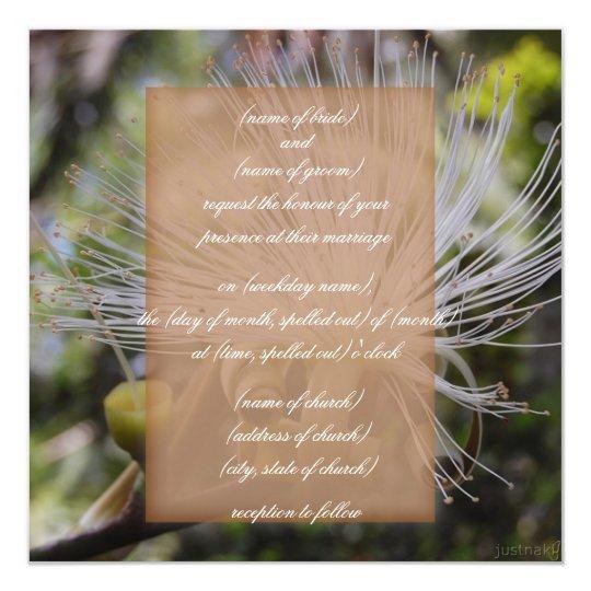 shaving brush tree invitation