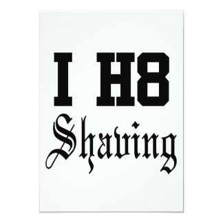 shaving card