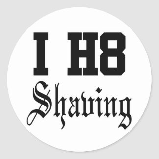 shaving classic round sticker