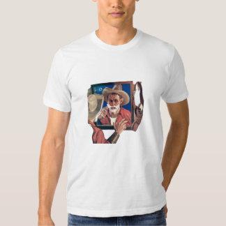 Shaving Cowboy T Shirt