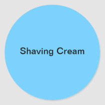 Shaving Cream Labels/ Classic Round Sticker