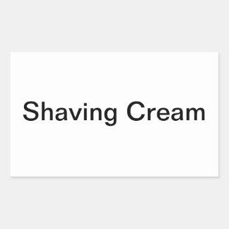 Shaving Cream Labels/ Rectangular Sticker