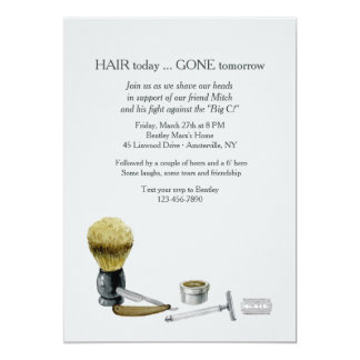 Shaving Elements Invitation