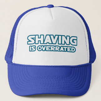 Shaving is Overrated, grow a Mustache Trucker Hat