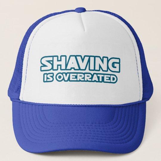 Shaving is Overrated, grow a Mustache Trucker Hat