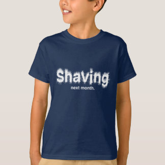 Shaving Next Month Kids Dark T-Shirt