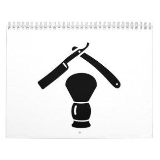 Shaving razor brush calendar