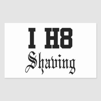 shaving rectangular sticker