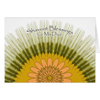 Shavuot Blessings for My Dad, Barley Sun Design Card