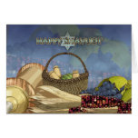 Shavuot Blessings - Shavuot Card Scroll And Food
