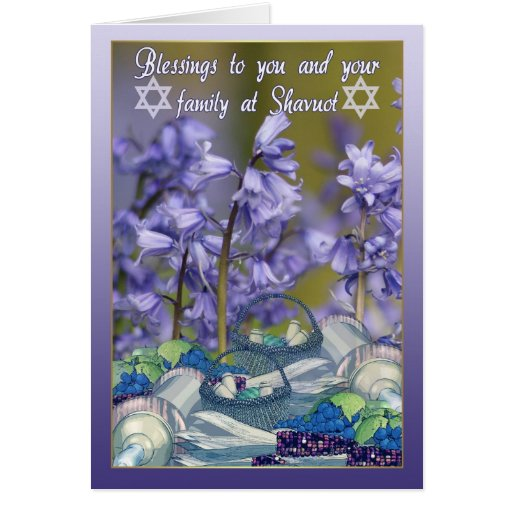 Shavuot Blessings - Shavuot Card With Bluebells