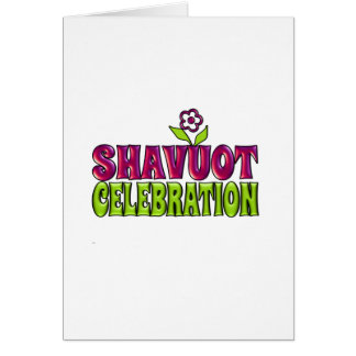 Shavuot Celebration fun Greeting with flower Greeting Card