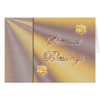 Shavuot Jewish Hebrew Holiday Shavuot blessings Greeting Card