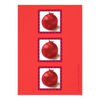 """SHAVUOT PARTY INVITATION fun red pomegranates 5"""" X 7"""" Invitation Card"""
