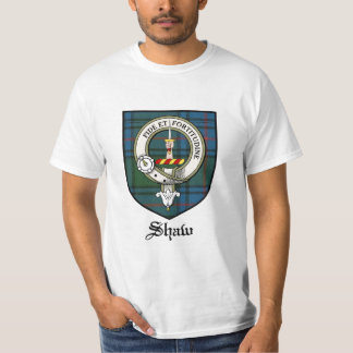 Shaw Clan Crest Badge Tartan T-Shirt