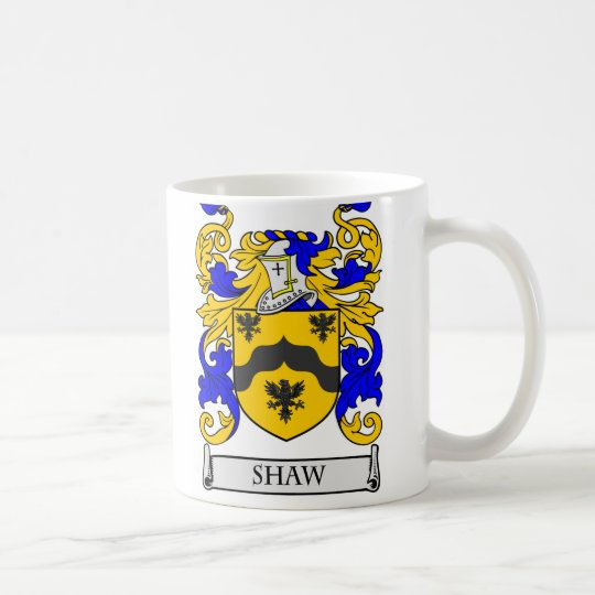 SHAW Coat of Arms Coffee Mug